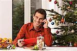 Man Writing Christmas Cards