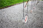 Swings in Park, Vancouver, British Columbia, Canada