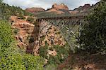 Bridge Over Oak Creek Canyon, Slide Rock State Park, Arizona, USA