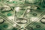 Vue grand angle de papier-monnaie américain