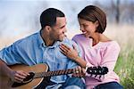 Man Playing Guitar pour femme