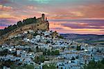 Vue d'ensemble du Village, Montefrio, Andalucia, Espagne