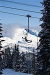 Ski Lift at Whistler Blackcomb Mountain, British Columbia, Canada