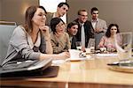 Geschäftsleute auf Tagung