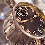 Closeup Silber Jahrgang Clock