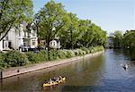 Boats on Canal, Hamburg, Germany