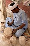Mann Bildhauerei aus Granit, Theben, Ägypten