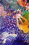 Détail d'un Collage de papier de soie