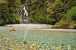 Rhipidure Falls, Haast River, Westland, South Island, Nouvelle-Zélande