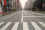 Empty Street in Ginza, Tokyo, Japan