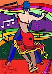 Illustration de la danse de Tango des gens