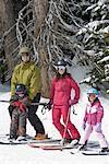 Porträt der Familie Skifahren, Whistler, British Columbia, Kanada