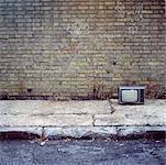 Télévision sur le trottoir, Londres, Angleterre