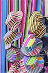 Guatemala, Santiago Atitlan, hats on sale at the market