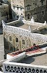 Yemen, Sanaa, terrace roofs