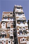 Façade décorée de Sanaa, Yémen