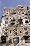 Yémen, Sanaa, façade décorée