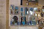 Tunisia, Tunis, souk, mirrors