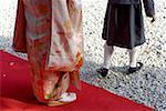 Japan, Tokyo, Meiji shintoist shrine, traditional wedding