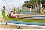 Indonésie, Bali, Sanur, étangs de pêche