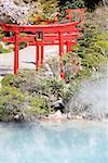Japan, island of Kyushu, Beppu, hot springs, torii
