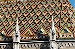 Hungary, Budapest, Mathias Church, detail