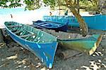 Costa Rica, Caribbean coast, Puerto Viejo, fishing boats