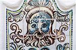 Portugal, Algarve, près de Lagoa, Porches, peint des carreaux en céramique