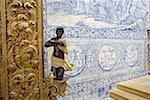 Portugal, Algarve, Faro, painted ceramic tiles