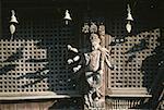Nepal, Kathmandu, Durbar Square, statue of a divinity