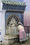 Morocco, Chefchaouen, fountain