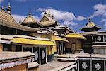 La terrasse, du Palais du Potala du Tibet, Lhassa,