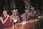 Tibet, Tandruk Monastery, monks at prayer
