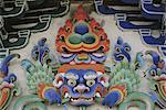 Tibet, Gyantse, the Kumbum, entrance detail