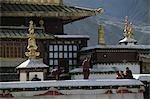 Tibet, Samye Monastery, monks