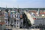 République tchèque, Prague, Staromestske Namesti Square, Saint Nicholas Church