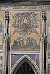République tchèque, Prague, cathédrale Saint-Guy, mosaïque de la porte d'or