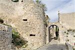 France, Provence, Lacoste, castle ruins
