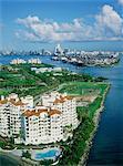 United States, Florida, Miami Beach, Fisher Island, aerial view