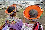 Guatemala, Santiago Atitlan, Indian women wearing a tocoyal