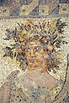 Chypre, Nea Paphos, gros plan d'une mosaïque