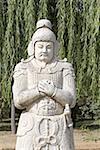 La Chine, près de Beijing, tombeaux de dynastie de Ming, la tombe de Changling statue bordant la voie sacrée