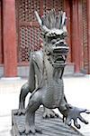 Chine, statue de Pékin, Palais d'Eté, du dragon