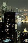 Chine, Hong Kong, vue de Victoria Peak
