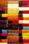 China, Hong Kong, multicoloured fabrics