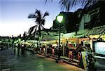 Restaurants de front de mer de Puerto de Mogan, Grande Canarie, Espagne, Iles Canaries,