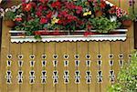 Roumanie, Moldavie, province de Bucovine, balcon fleuri