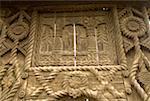Gros plan de Roumanie, Maramures, de porte sculptée