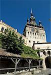 Romania, Transylvania, Sighisoara, Clock Tower