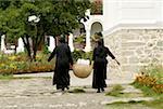 Romania, Moldavie, province of Neamt, Agapia Monastery, nuns